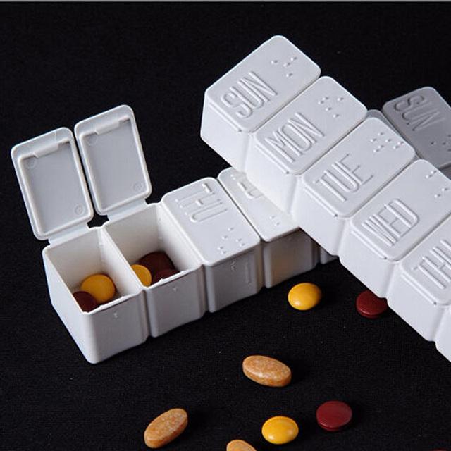 Бесплатная доставка портативный 7 отсек таблетки влагостойкий медицина с шрифтом ...