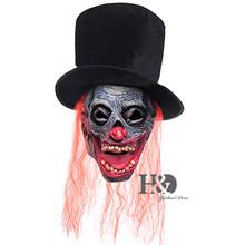 Nuovo 2016 di Halloween di Orrore Maschera Da Clown Con Il Rosso Dei Capelli del Cappello Superiore Del Partito Costume Cosplay 22.5*13.5 Pollici(China)