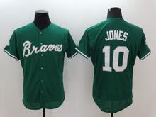 Men 6 Bobby Cox 10 Chipper Jones 24 Deion Sanders Man white gray red blue green top quality Jersey(China (Mainland))