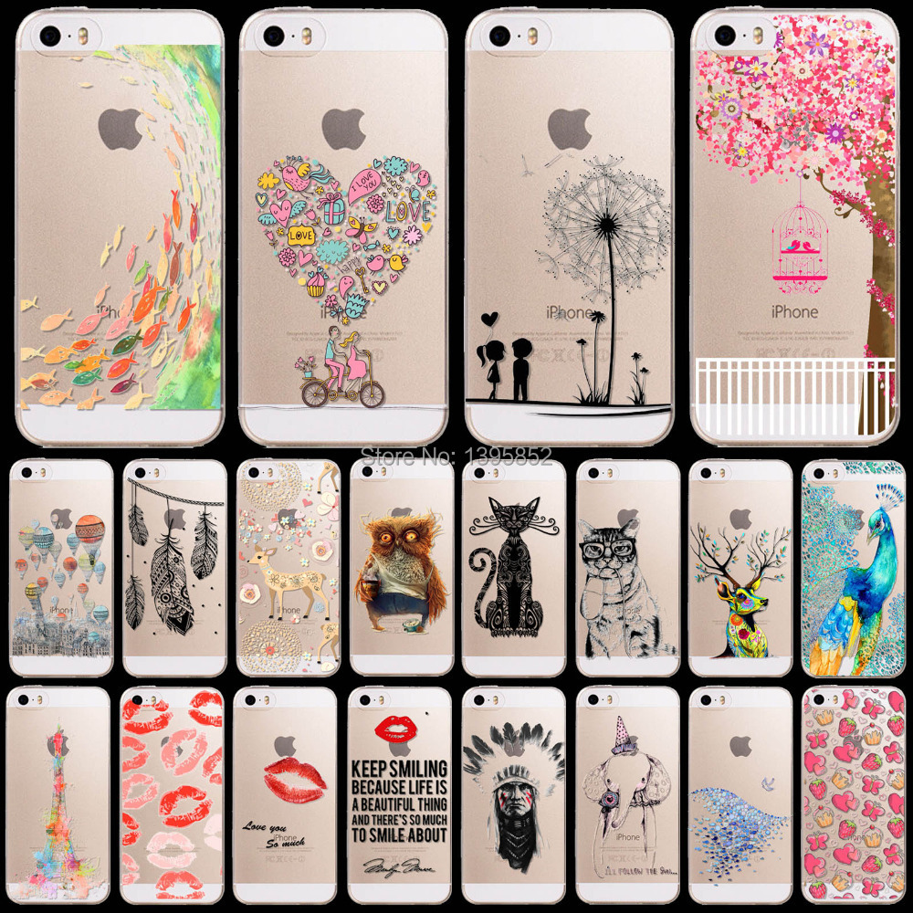 New Arrival Tpu Soft Phone Case for iPhone 4 4S Cute Animals Printed Phone Skin Cover(China (Mainland))