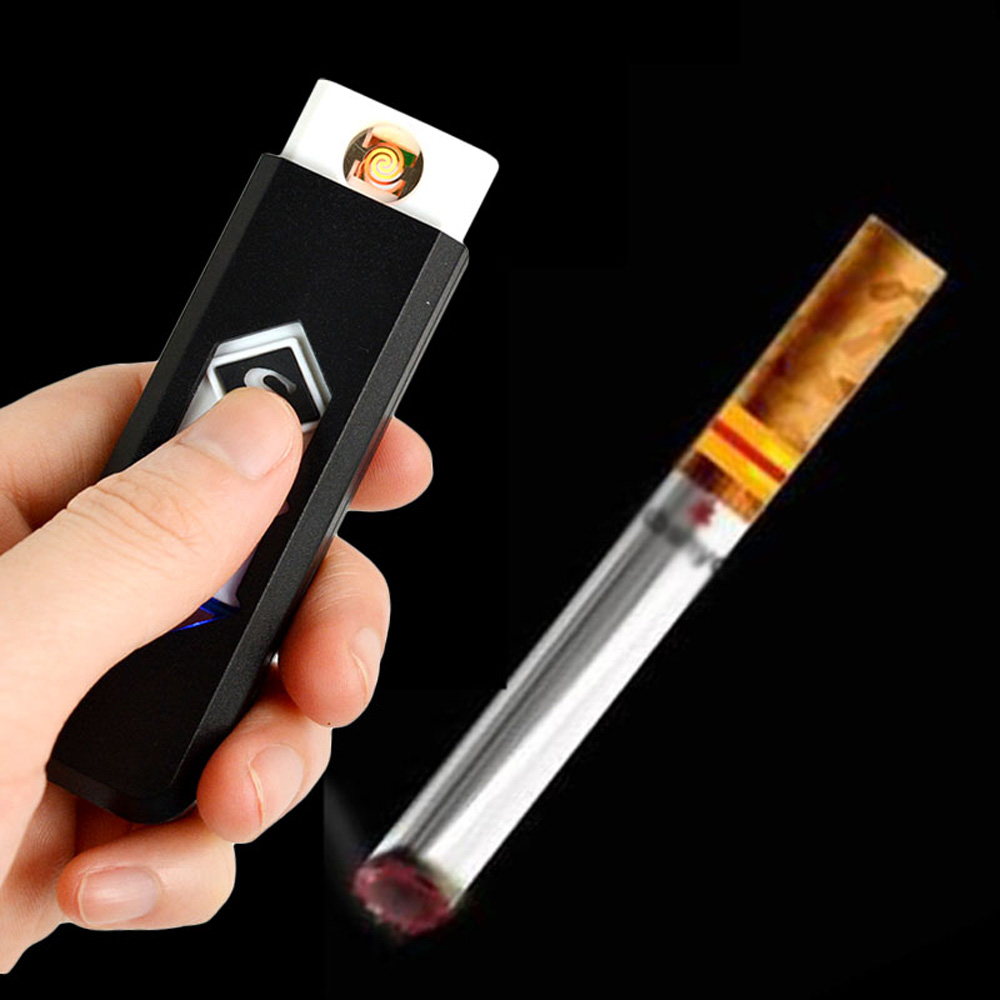 USB Electronic Flameless Cigarette Lighter Rechargeable Battery CigarNew Arrival Hot Sell 1 Pcs(China (Mainland))