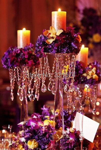 wedding Party decoration crystal centerpiece flower stand Candle Holder 40cm 15.75inch Tall - Lynn X's store
