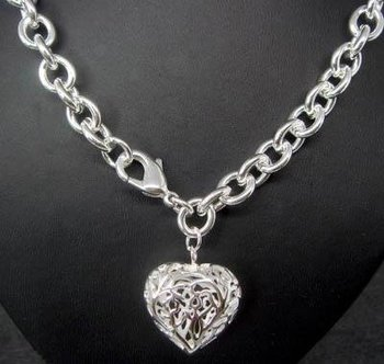 Wholesale fashion 925 silver beautiful lovers two heart necklace pendant  Super price !Free Shipping with brand LN15