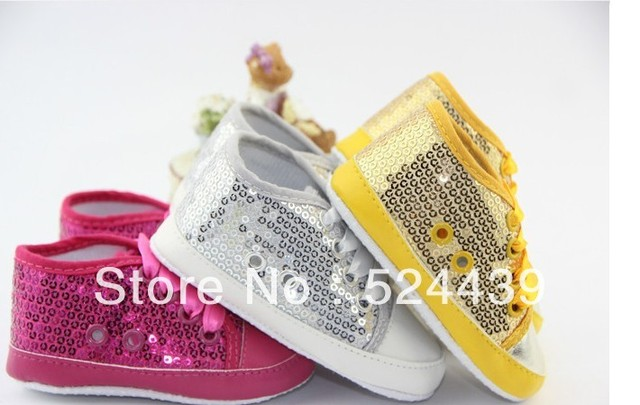 Free shipping 2013 new Pink silver Beaded sequined fabric 11cm-13cm spring and autumn non-slip toddler baby shoes High quality