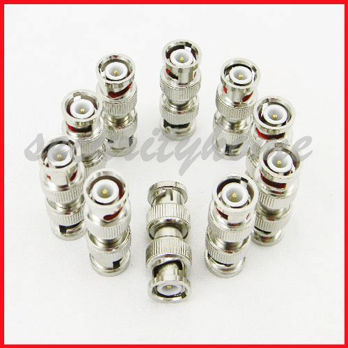 New 10 Lots BNC male to BNC male Adapter for Video cable(China (Mainland))