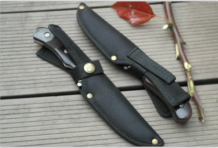 Buy Free Shipping New Tactical Survival Fixed Blade Straight Knife for Outdoor Sport Camping Ebony Handle cheap