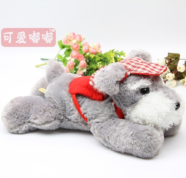 Schnauzer dog doll plush toy dog toy pillow girls gift