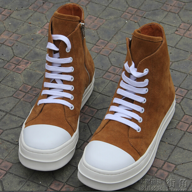 genuine leather plus size 37 46 men outside Outdoor walking ankle boots 100 natural original brands