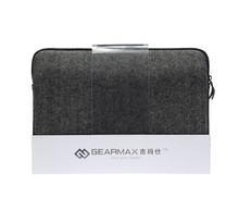 Gearmax Free Shipping High Quality Black Neoprene Men's Business Famous Genuine Leather Laptop Bags for Apple Macbook Air 13.3''(China (Mainland))