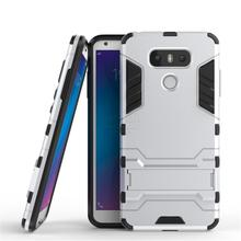 Buy New Dual Layer Hybrid Tough Rugged Armor LG G6 Case Fundas PC+TPU Kick Stand Back Cover LG G6 Mobile Phone Bags for $3.59 in AliExpress store