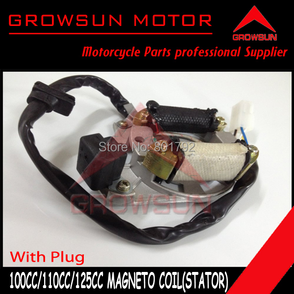 MAGNETO COIL STATOR 4 Pole 5 wire 4 Pin with plug 100cc 110cc ATV Go Kart Buggy