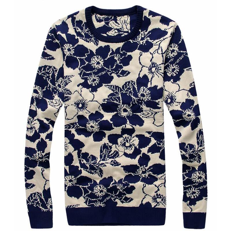 2016 New Arrival Autumn Winter Men Sweater Commercial Casual Knitted Slim Fit Men Sweater Plus Size L-3XL