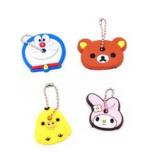 40 pcs keychain animal dos desenhos animados chaveiro Anime Olá kitty urso Totoro animação keycover chave tampas de Crianças do sexo feminino Chaveiro(China)