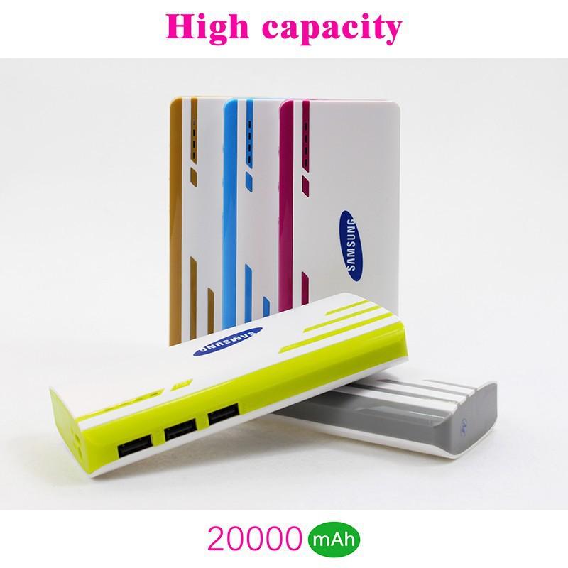 Free shipping Original Big Capacity 20000Mah Universal Portable Power Bank charge for mobile phone External Backup Battery Charg