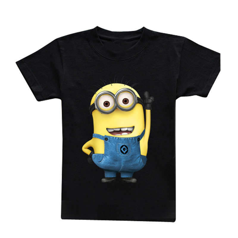 Retail 2015 New Summer boys t-shirt kids baby children Cartoon yellow people clothing - Little bee's store
