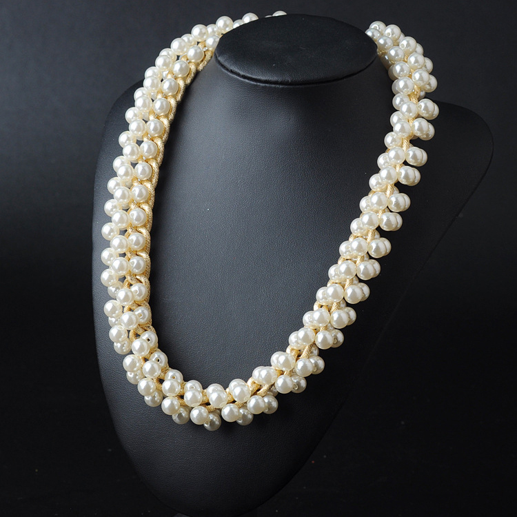 2014 Fashion Luxury Vintage Style Jewellery Choker statement  pearl Necklaces&amp;Pendants Free Shipping<br><br>Aliexpress