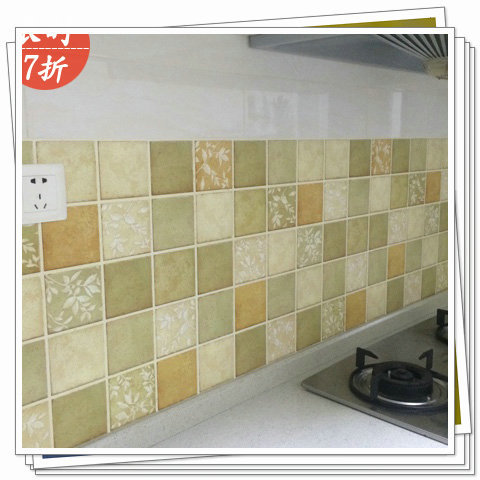 thickening wallpaper bathroom waterproof stickers oil tile stickers