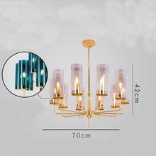 Modern Chandelier Lighting Glass Branching Pendant Chandeliers For Dining Room Living Room Lustre Hotel Led Avize E14 C027(China)