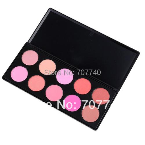 Dropshipping 1 set 2014 new fashion professional 10 Colors blush makeup palette, Blusher Powder, blusher palette(China (Mainland))