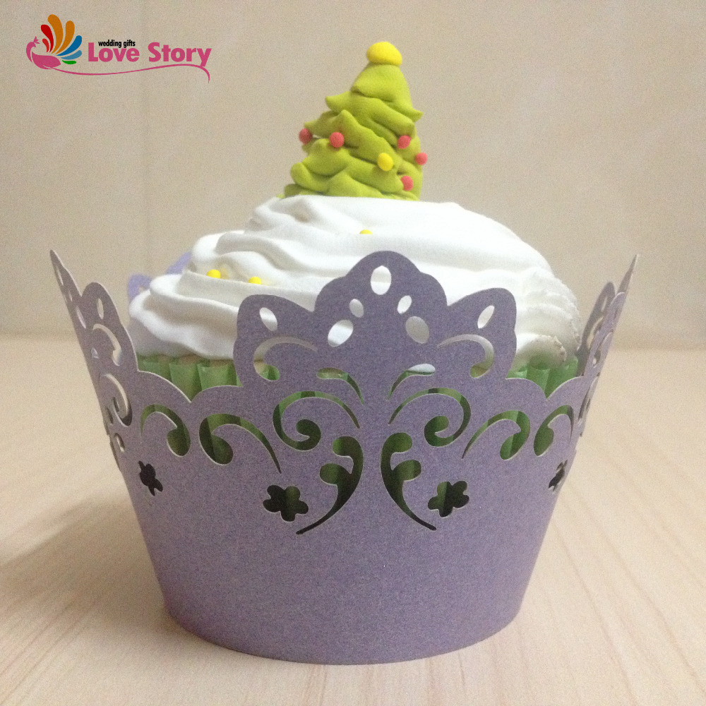 50Pcs Cupcake Wrappers Laser Cut Clouds Design Birthday Party Decoration Kids Wedding Decoration Wedding Favors And Gifts(China (Mainland))