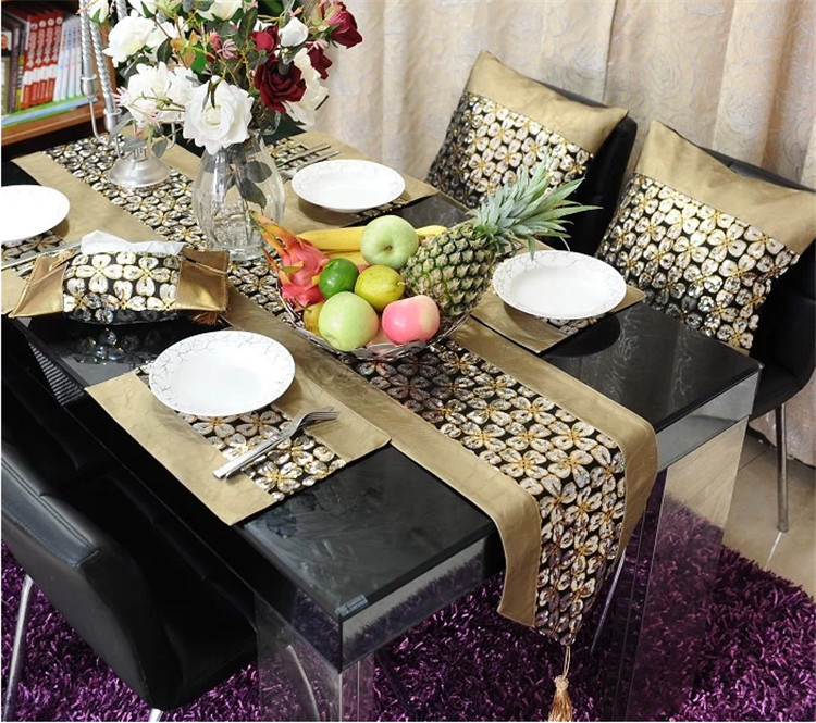Gold Coffee /dinner Table Runner Table Cloth The Living