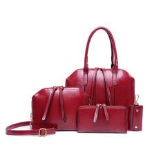 Promotional 4PCS/Set Retro PU Material Shoulder Bag Set Multi Function Mother Kids Tote 3 Colors Option - Ibetter Store store