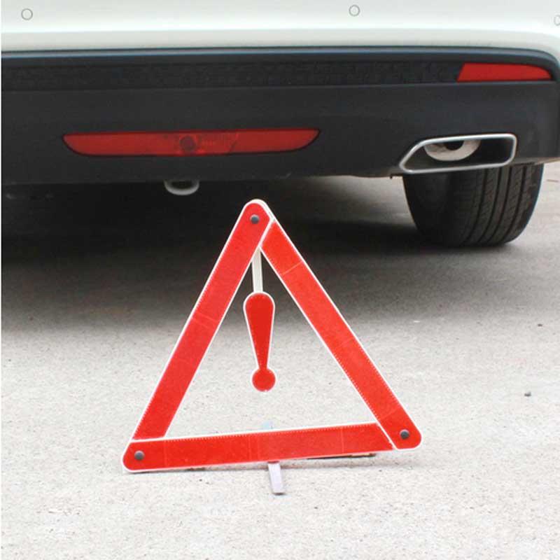 Foldable Car Warning Triangle Reflective Car Warning Triangle Tripod Holder / Card Aluminum Sheet with Single Leg Fixed(China (Mainland))