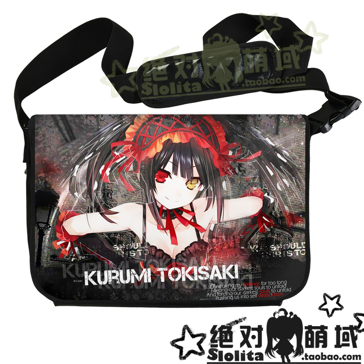 Animation Date Live Tokisaki Kurumi Yatogami Tohka Anime Crossbody Messenger bags Shoulder School Bag Notebook Case - Slolita House store