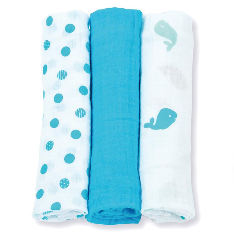 3Pcs Set 70*70cm Muslin Cloth Cotton Baby Swaddles Newborn Baby Blankets Double Layer Gauze Bath Towel Hold Wraps(China (Mainland))