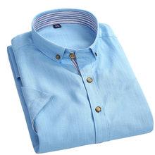 2016 Summer New Arrival Men's Cotton Linen Shirt Short Sleeve  Shirts Mens Quality Casual Shirt  Brand  Dress Shirts Camisa AZ38(China (Mainland))