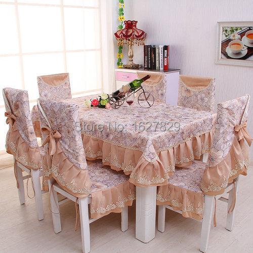 Jacquard tablecloths and chair covers dining table cloth rectangular Chair cushion Luxurious lace tablecloth pad mat Table linen(China (Mainland))