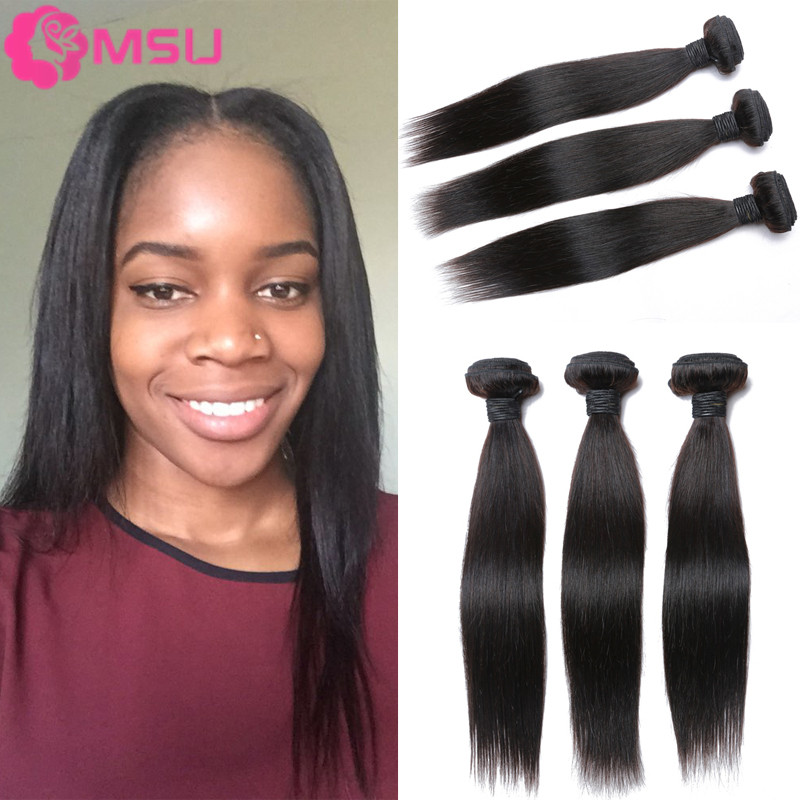 Halo Lady Hair Brazilian Straight Virgin Hair 4pcs Lot Unprocessed Brazillian Straight Hair 7A Cheap Straight Human Hair Bundles