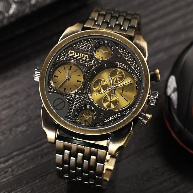 Zegarek męski Oulm w punkowym stylu stal nierdzewna różne kolory