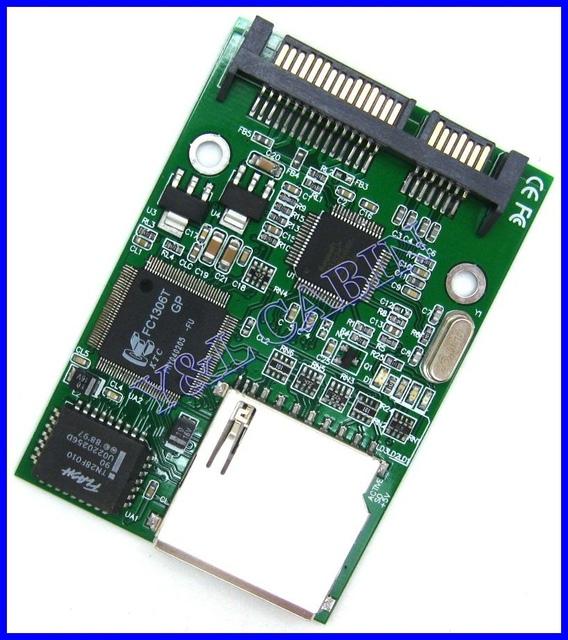 SD SDHC Secure Digital MMC to 7+15 Pin 7+15P SATA Serial ATA Converter Adapter, Free Shipping, Brand New, Wholesale/Retail