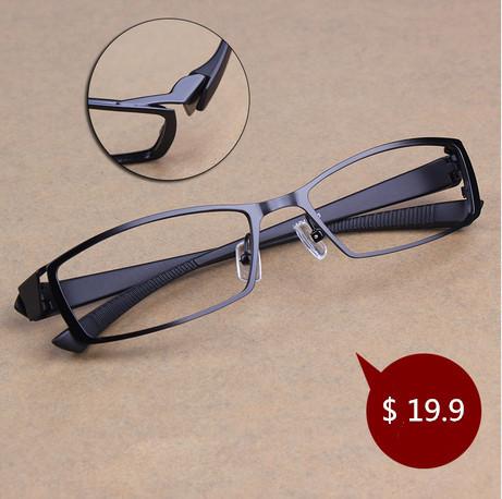 Men Titanium Alloy Metal Eyeglasses Full Frame Ultra Light Myopia Glasses Frame(China (Mainland))