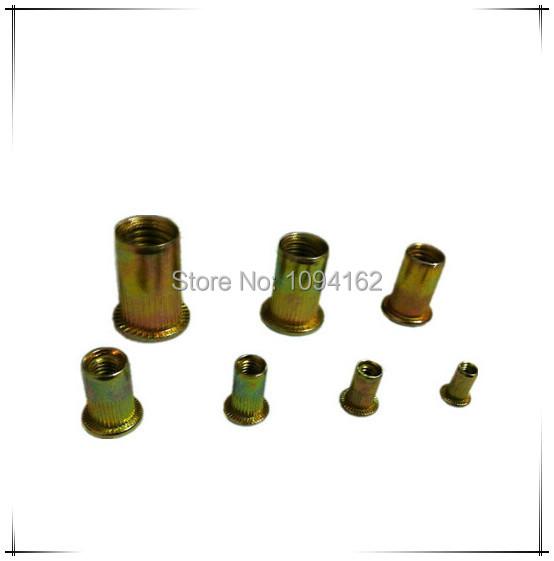 5/16-18 China manufacture flat head zinc plated steel rivet nut on sale 200pcs/lot<br><br>Aliexpress