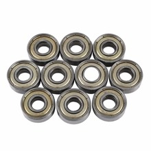 Buy 10Pcs Carbon Steel 608zz 608-ZZ Deep Groove Ball Bearing 8x22x7mm Skateboard Roller Blade Scooter for $3.29 in AliExpress store