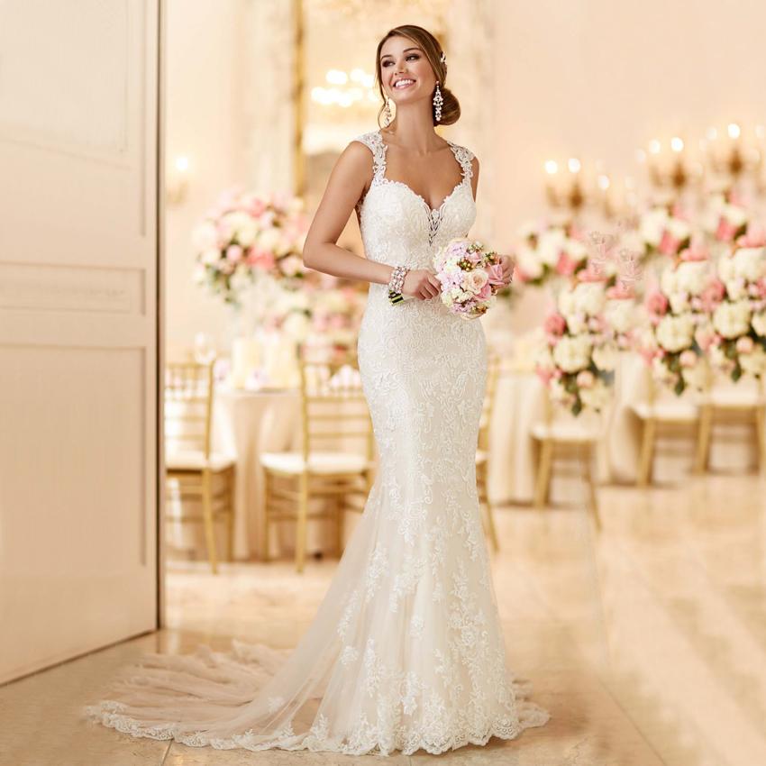 Lace keyhole back wedding dress reviews online shopping for Aliexpress wedding dress reviews
