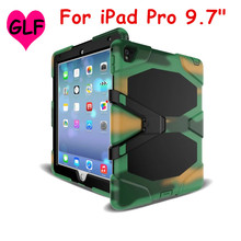 """Heavy Duty case For Apple iPad Pro Mini 9.7"""" Tablet case Gelifen Series Soft Silicone +PC Back Cover Kickstand Case(China (Mainland))"""