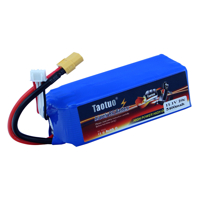 Taotuo Lipo Battery 11.1V 5400mAh 3S 20C XT60 For Wltoys V303 V393 CX-20 X380 RC Drone Helicopter Qudcopter Car Bateria Lipo<br><br>Aliexpress