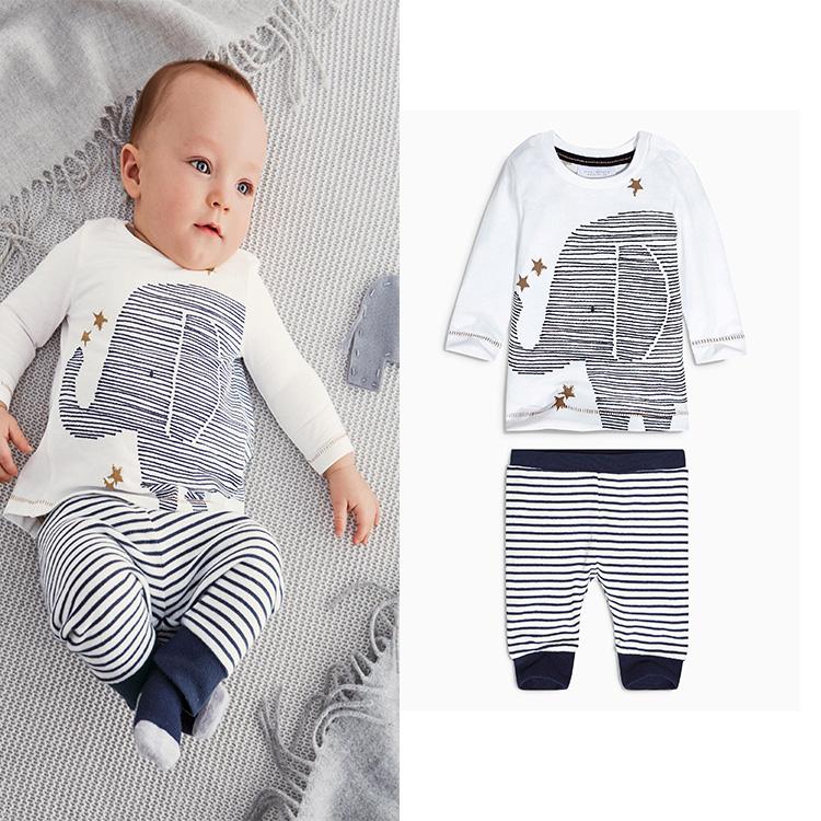 2015 New Style Baby Boy Girl Clothing Set Cartoon Elephant