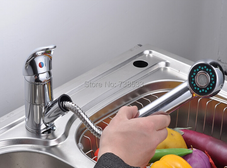 High Quality Pull Out Kitchen Faucet Basin Faucet Kitchen Sink Taps Pull Down Big Spring Faucet Water Tap Kitchen(China (Mainland))