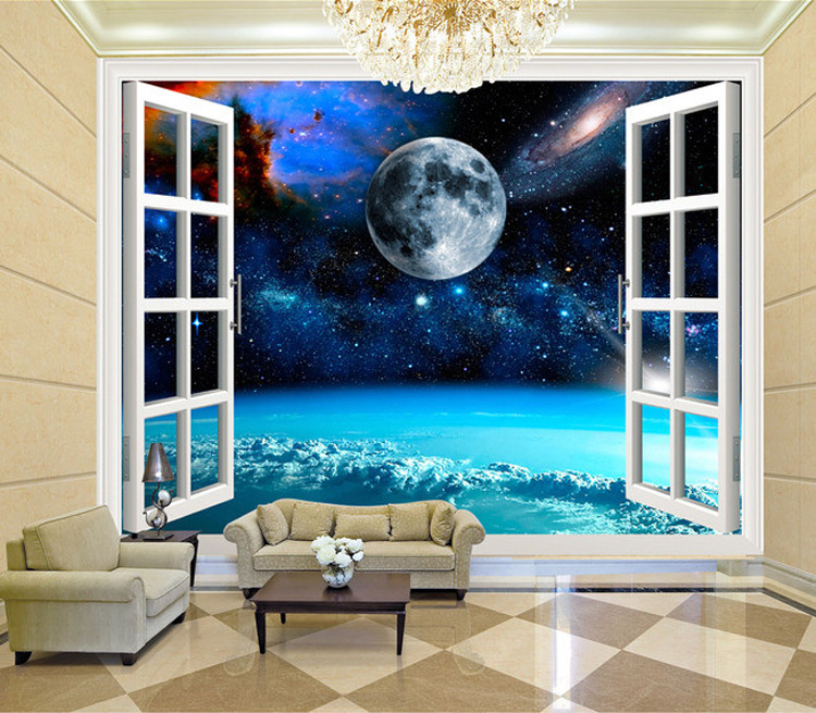 Popular galaxy wallpaper buy cheap galaxy wallpaper lots for 3d wallpaper bedroom ideas