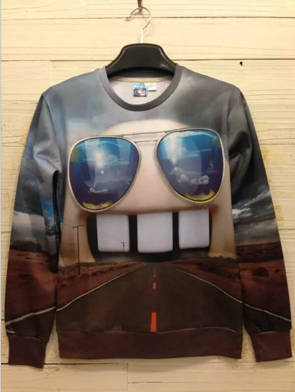 Christmas sweatshirt 2015 Fashion Winter Men's Women Long Sleeve Pullovers Matching 3d Couple Christmas sweatshirt(China (Mainland))
