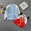 New Autumn Boys Girls Sweater Kids Children Fashion Baseball Pullovers Jumper Sweater Girl Knitwear Baby Girls