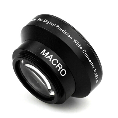Camera 30mm 0.45x Wide-angle Lens Attached Macro Conversion Lens For Nikon D3200 D60 For Canon 650D Lenses Free shipping Black(China (Mainland))