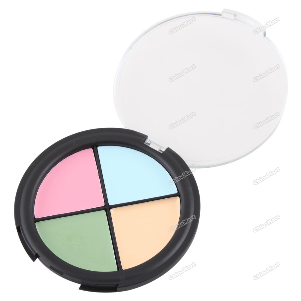 newbie Pro 4 Color Cream Quad Makeup Concealer Palette Skin Camouflage 4#(China (Mainland))