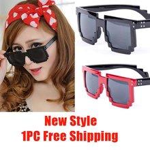 Brand New Gafas 2016 Code Programmer Pixelated 8-Bit Black Sunglasses CPU Gamer Geek Designer Sunglasses Women Shades