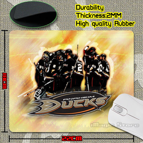 New Arrival Customized Anaheim Ducks Gaming Soft Thin Mouse Pad for Computer Optical Mouse(China (Mainland))