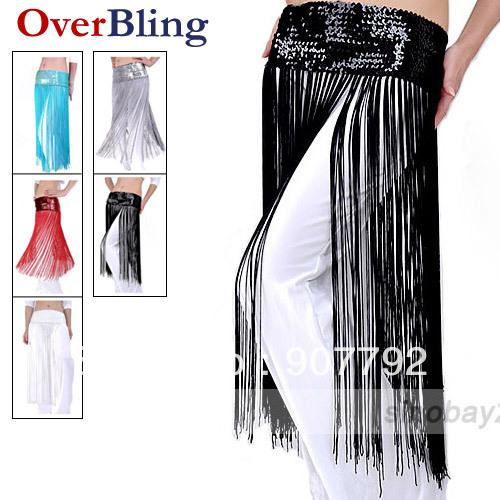 Belly Dance Hip Scarf Belt Tribal Fringe Paillette Hip Scarf/Belt/Belly Dance Wear Tassel Practice Practice(China (Mainland))